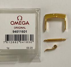 Original Omega 16mm Gold Clasp Buckle 94511601 Fits 16mm Strap Breadth