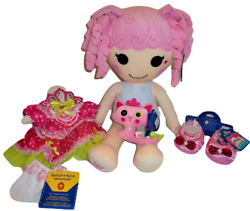 Build A Bear Jewel Sparkles Doll Lalaloopsy Dress Shoes Kitty 21 Inch Plush Toy