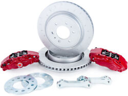 Alcon For 2010+ Ford F-150 360x32mm Rotors 4-piston Red Calipers Rear Brake Upgr