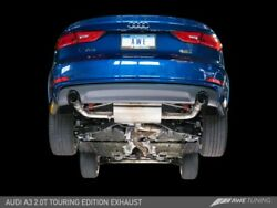Awe Tuning For Audi 8v A3 Touring Edition Exhaust - Dual Outlet Chrome Silver 90