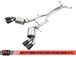 Awe Tuning For 16-19 Chevy Camaro Ss Res Cat-back Exhaust -touring Edition Quad