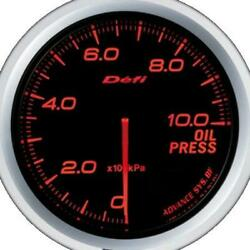 Defi Advance Bf Red 60mm Oil Pressure Gauge Metric - Defidf10202