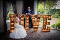 Large 5ft Light Up Letters For Sale Wood 5ft Love With Heart Not O