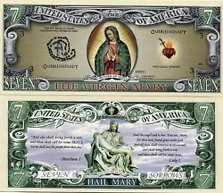 Virgin Mary Color Novelty Money Note United States X 100 Note Bundle