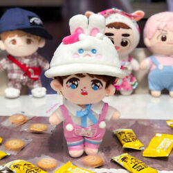 Kpop Exo Plush Standing Ear Baekhyun Doll Toy With Rabbit Hat T-shirt Rompers