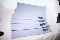 Nos Vintage Table Linens Oxford Solid Nwt Placemats Lot Of 4 Denim
