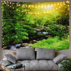 USA Art Forest Cree Print Tapestry Wall Hangings Tapestry Home Decor Beach Towel