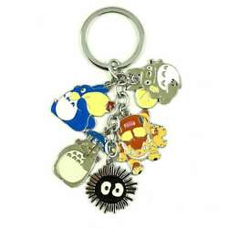 Japanese Anime My Neighbor Totoro Metal Keychain Key Ring USA SELLER $9.99