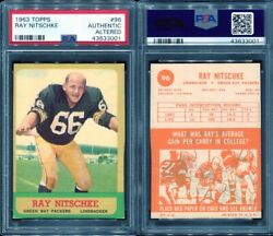 1963 Topps 96 Ray Nitschke Psa 0 Aa Authentic Altered 3001 Rookie