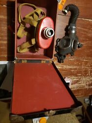 Wwii M-s-a Gas Mask W/canister And Original Box Pittsburgh Pa Msa Service Model S