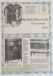 Vintage Globe-wernicke Advertising Postcard - Barrister Bookcases And Bookplates