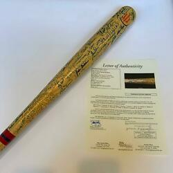 Magnificent Hall Of Fame Multi Signed Bat W 95 Signatures! Ted Williams JSA COA