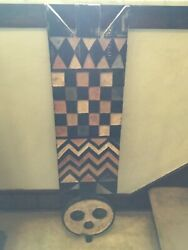 Rare Plank Mask Nuna Tribe Burkina Faso Wood Hand Carving 52 Inches X 15 1970andrsquos