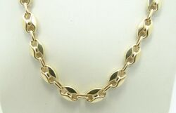 14k Yellow Gold Italian Anchor Link Chain Necklace 17.5 18.4g D5464