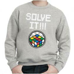 Solve It Official Rubik's Cube Graphic Gift Kids Youth Crewneck SweatShirts $14.99