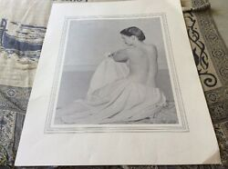 Frank Lockwood Nude Lithograph