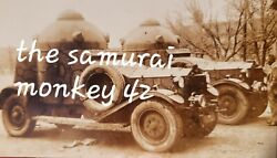 Ww2 Japanese Original Photo Of Military Custom Cars Collectible Picture