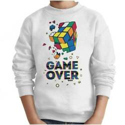 Official Shattered Rubik's Cube Game Over Gift Kids Youth Crewneck SweatShirt $14.99