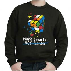 Official Work Smarter Not Harder Graphic Gift Kids Youth Crewneck SweatShirts $14.99