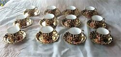 Royal Crown Derby Traditional Imari 2451 Tea / Coffee Cup And Saucer X 12 - 24 Pc