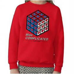 Miss Complicated Official Rubik's Cube Puzzle Kids Youth Crewneck SweatShirts $14.99