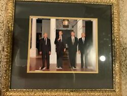 Gerald Ford Bill Clinton And George Bush Sen Signed Photo