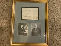 Guest Registry Page Signed By Calvin Coolidge And William H. Taft - Nicely Framed