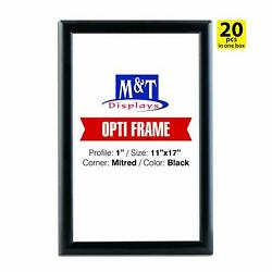 11x17 Snap Frame, 1 Profile, Aluminum, Wall Mounted - Black, Front Loading