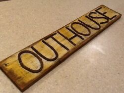 Outhouse Wooden Sign - Bathroom Privy