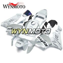 White Silver Cowlings For Honda Cbr600rr 2003 2004 Hull Autobike F5 03 04 Panels