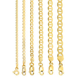 14k Yellow Gold Solid 2.3mm-7.5mm Anchor Mariner Chain Necklace Bracelet 7- 30