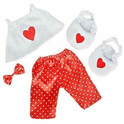 Satin Heart Stuffed Animal Clothing & Accessories Pj&39s With Slippers Teddy Own