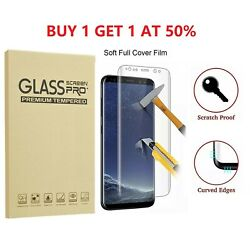 2-pack Full Cover Tempered Glass Protector F Samsung Galaxy S8 S9 Plus Note 8 S7
