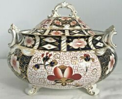 Extremely Rare Royal Crown Derby 2451 Or Traditional Imari Soup Tureen