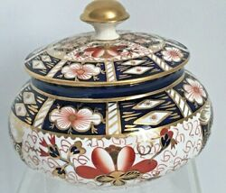 Rare Royal Crown Derby 2451 Or Traditional Imari Covered Round Box - And Co