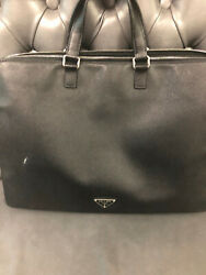 Prada Saffiano Leather Briefcase Men's or Ladie's  - Designer Bag