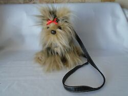 FUZZY NATION YORKIE PURSE YORKSHIRE TERRIER LIFE LIKE