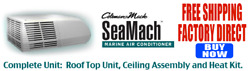 Coleman Marine Sea Mach Air Conditioner 48203-8666 With Ceiling Assy, Heat Andship