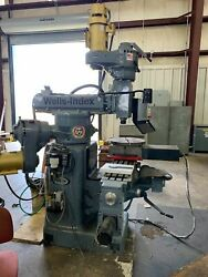 Wells-index 860 48x 10 Table 4200 Rpm 4-axis Cnc Mill W/m-400 Centroid Control