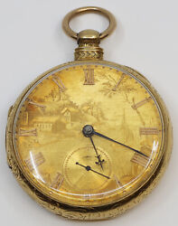 Vintage 18k Yellow Gold Charles Taylor And Son Pocket Watch