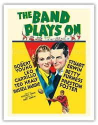 The Band Plays On - Robert Young - 1934 Vintage Film Movie Poster Art Print
