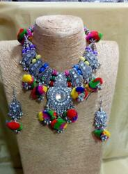 Handmade Top Class Quality Bollywood Partywear Fashion Earrings Necklace Set Ia4