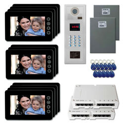 Office Security Door Panel Video Intercom System Kit With 11 7 Color Monitors
