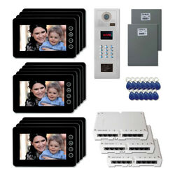 Apartment Security Video Entry Intercom System Kit With 13 7 Color Monitors