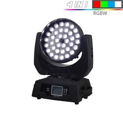 Led Washing Zoom Moving Head Light 36x12w/18w Rgbw/+uv Touch Screen Suitable