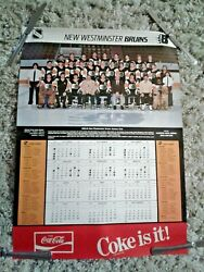 1983 1984 Whl New Westminster Bruins Team Poster Schedule Rare