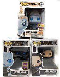 Rare Funko Pop Lot Of 3 Game Of Thrones White Walker Conan Sdcc 2017 And More