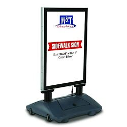 Wind Pro Outdoor Advertising Display With Led Light Up Sign, 23.38x33.11 Size