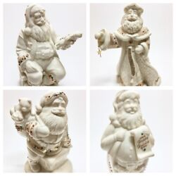 Lenox Jewels Collection Set Of 4 First, Fourth, Fifth, Sixth Santa Figurines