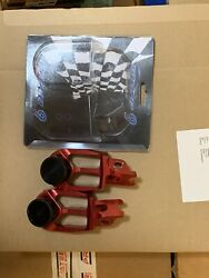 2013 Honda Crf450r Warp 9 Left Right Foot Rests Pegs Set And Axle Sliders